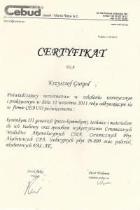 Certyfikat Cebud